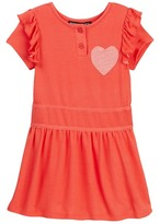 Trixxi French Terry Heart Dress (Little Girls)