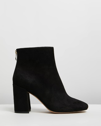 Spurr Women's Black Heeled Boots - Sally Wide-Fit Ankle Boots - Size 6 at The Iconic