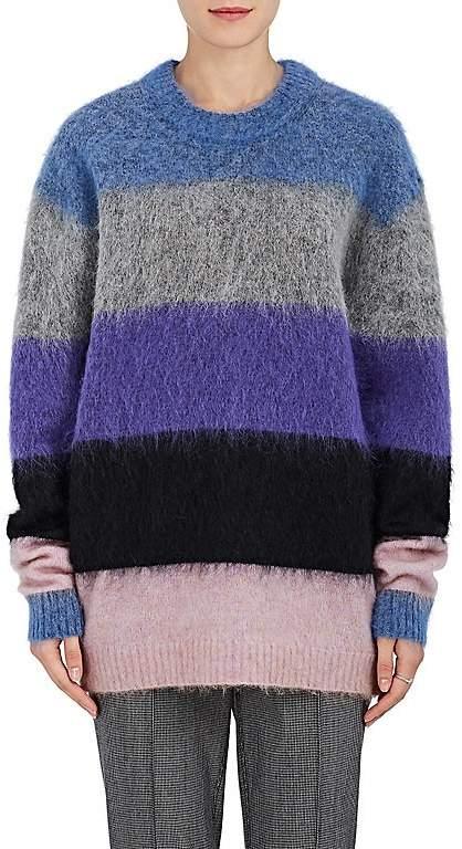 Acne Studios Women's Albah Striped Mohair-Blend Sweater