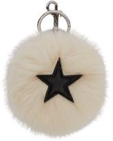 Stella McCartney Ivory Faux-Fur Star Keychain