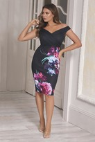 Jessica Wright Sistaglam loves Deanne Black floral bodycon Dress