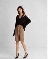 Express ruffle striped pencil skirt