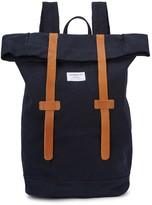 Sandqvist Navy Canvas Backpack