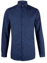 Burton Burton Navy Skinny Easy Iron Shirt