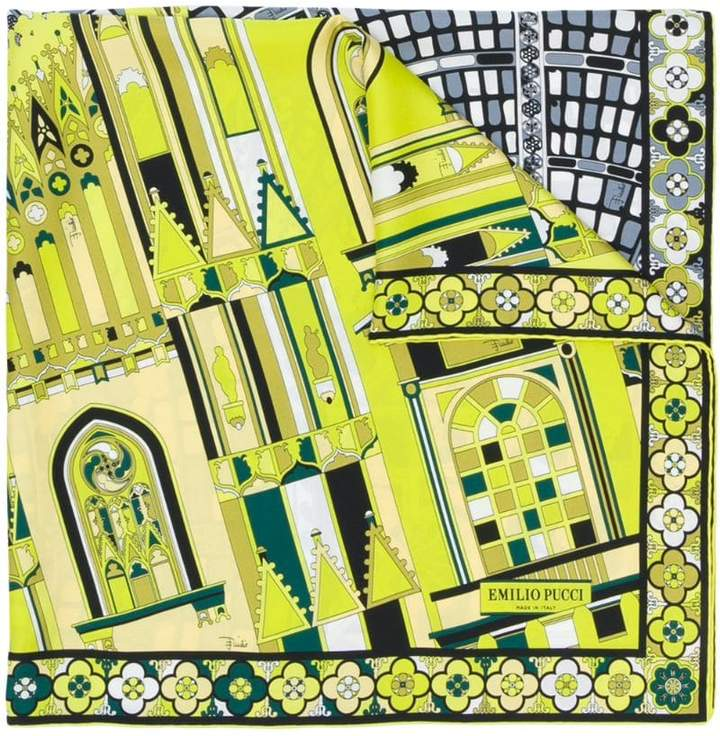 Emilio Pucci Milan-print scarf