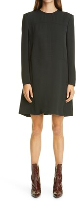 Chloé Long Sleeve Double Face Crepe Minidress