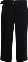Vince High-rise wide-leg crepe trousers