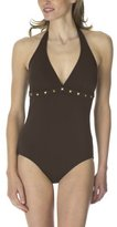 Merona® 1-pc. Swimsuit with Diamond Studs - Brown