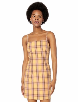 BB Dakota Women's Total Betty Cotton Plaid Slip Dress