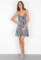 Pencey Triangle Slip Dress in Bandana Print