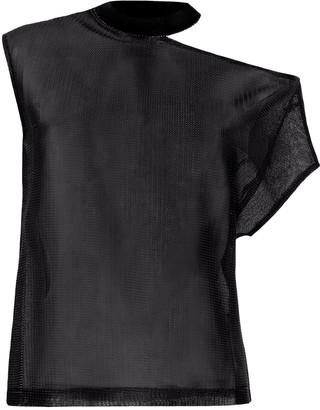 RtA asymmetric mesh T-shirt