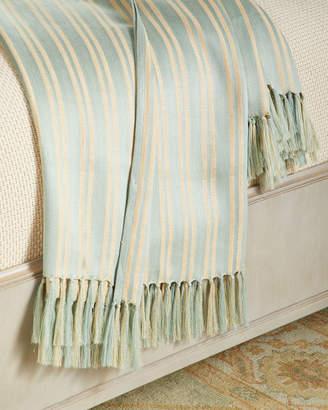 "Ralph Lauren Home Bretton Stripe Throw Blanket, 54"" x 72"""