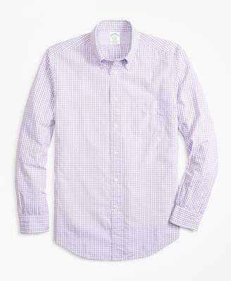 Brooks Brothers Milano Fit Gingham Seersucker Sport Shirt