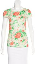 Alice + Olivia Floral Print Scoop Neck Top