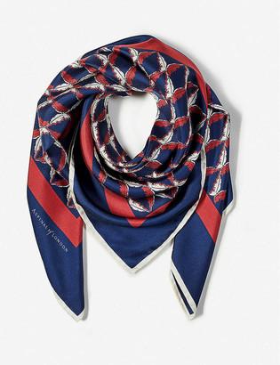 Aspinal of London Harlequin silk scarf 90cm x 90cm