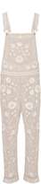Needle & Thread Rose Beige Floral Lace Dungarees