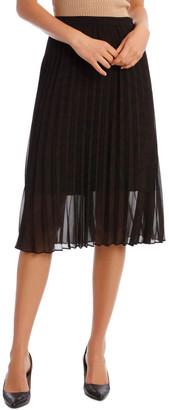 Basque Pleated Zebra Print Skirt