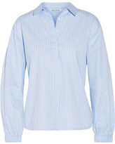 Elizabeth and James Estelle Striped Cotton-poplin Shirt - Light blue