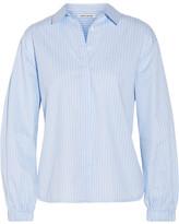 Elizabeth and James Estelle Striped Cotton-poplin Shirt - small