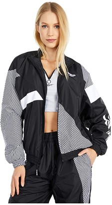 Reebok CL V Track Jacket (Black) Women's Coat