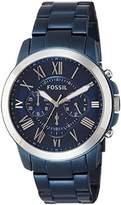 Fossil Men's Quartz Stainless Steel Casual Watch, Color:Blue (Model: FS5230)