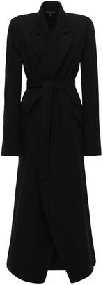 Ann Demeulemeester Wool & Cotton Belted Long Coat