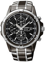 Seiko Mens Silvertone Chronograph Watch