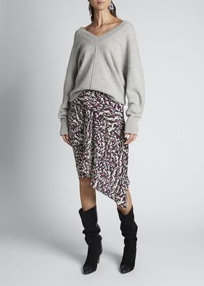 Isabel Marant Cashmere Center-Seamed V-Neck Sweater