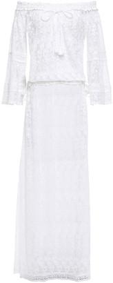 Melissa Odabash Sabina Off-the-shoulder Embroidered Tulle Maxi Dress