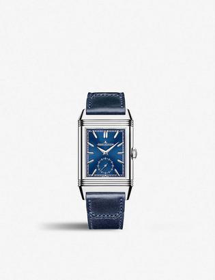 Jaeger-LeCoultre Q3988482 Reverso Tribute Duoface stainless steel and leather watch
