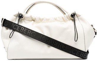 Iceberg Logo-Patch Leather Tote Bag