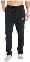 Nike NSW Club Pants Open Hem Jersey (Black/White) Men's Casual Pants