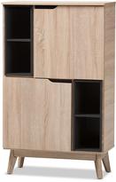 Baxton Studio Oak and Gray Wood Two-Tone Storage Cabinet