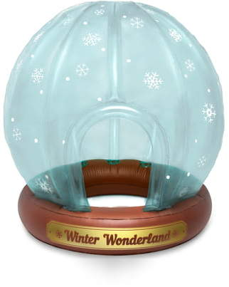 BigMouth Inc Snow Globe Inflatable Winter Fort