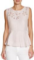 Rebecca Taylor Floral Cutout Silk Top