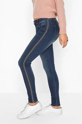 Girls On Film Blue Skinny Jeans