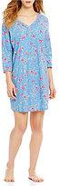 Karen Neuburger Floral Henley Sleepshirt