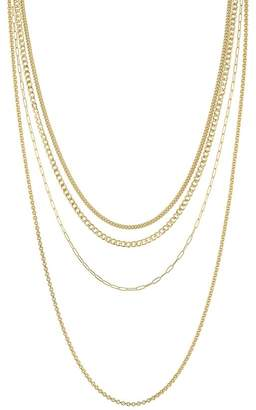Velvet by Graham & Spencer Velvet By Graham Spencer Multi Layer Chain In Gold By Sloan