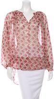Tamara Mellon Silk Asymmetrical Blouse w/ Tags