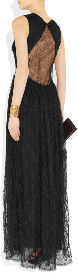 Theyskens' Theory Fakae embroidered lace gown