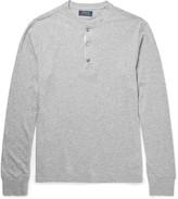 Polo Ralph Lauren Mélange Cotton-Jersey Henley T-Shirt