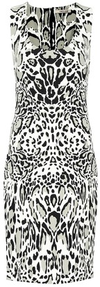 Roberto Cavalli Printed stretch crApe dress