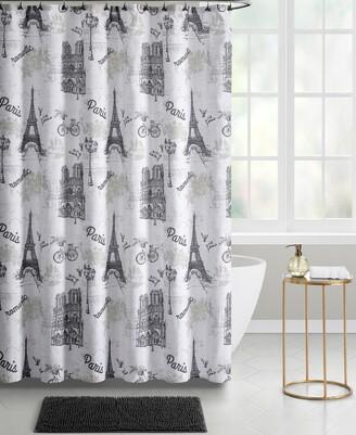 Seventh Studio Paris 14-Piece Shower Curtain Bath Set Bedding