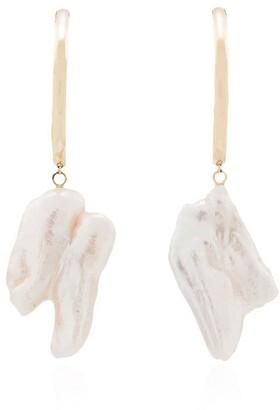 Loren Stewart 14kt Gold Pearl-Embellished Drop Earrings