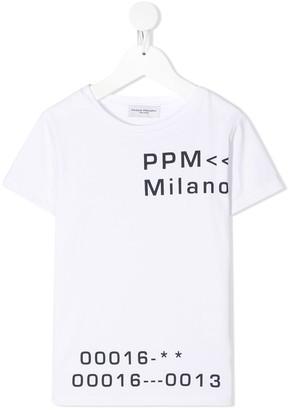 Paolo Pecora Kids Graphic Slogan T-Shirt