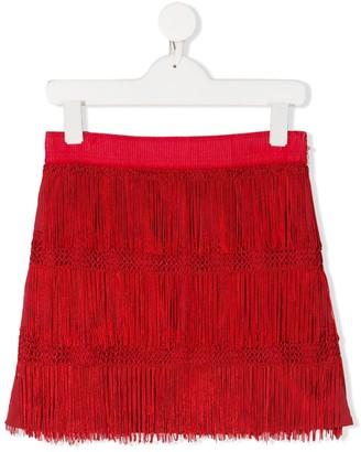 Alberta Ferretti Kids TEEN ffringed mini skirt