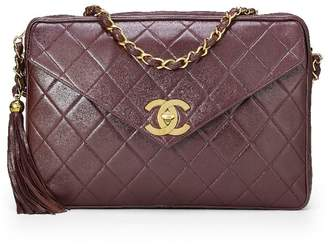 Chanel Brown Quilted Lambskin Envelope Camera Bag XL