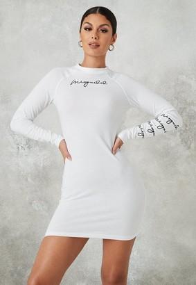 Missguided White Crew Neck Mini Dress