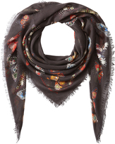 Alexander McQueen Bejeweled Butterfly Scarf