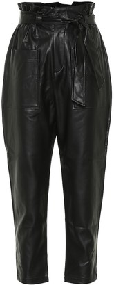 Frankie Shop Exclusive to Mytheresa Kate faux-leather paperbag pants